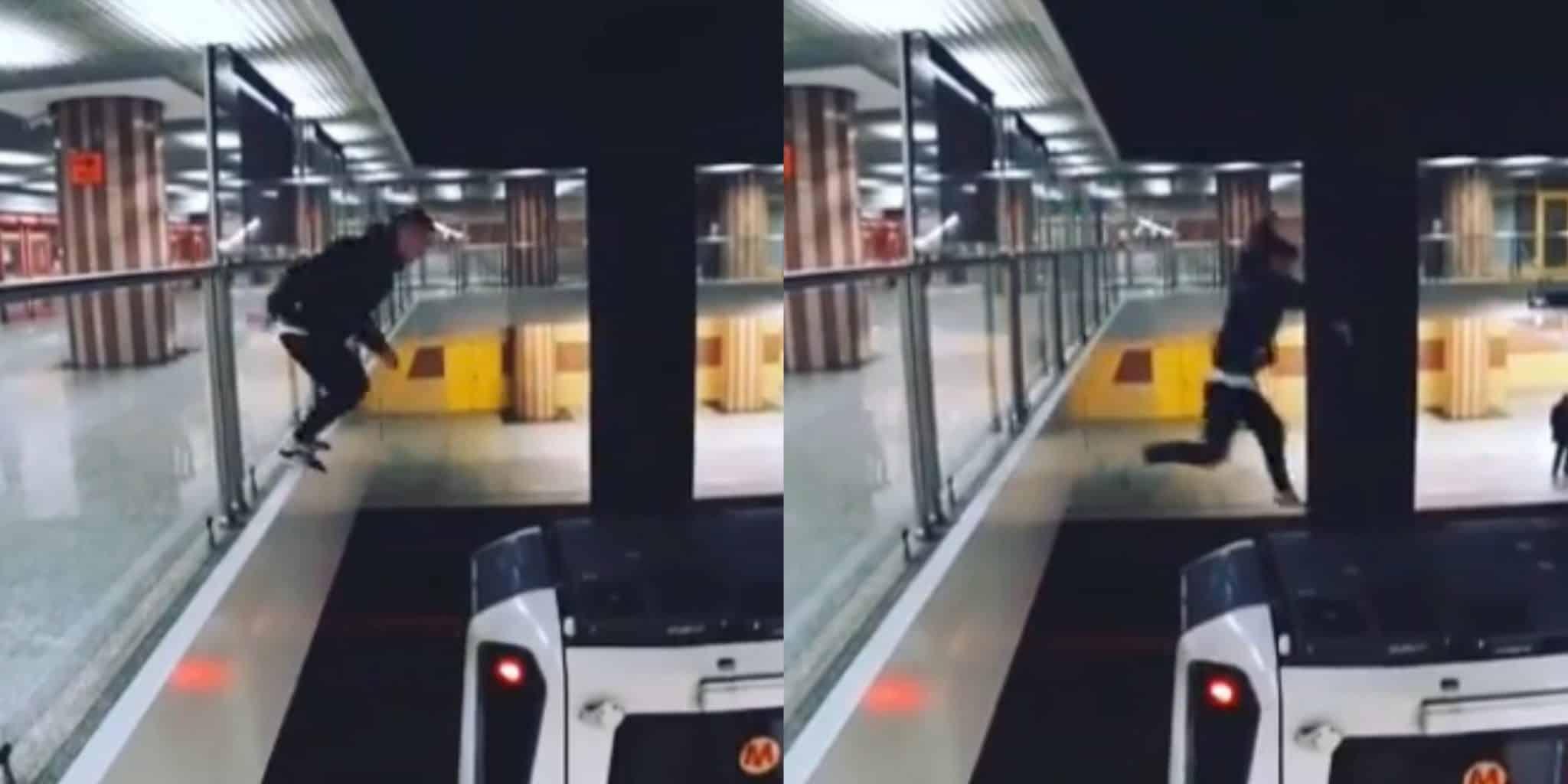"""DRAMAT w Warszawskim metrze! """"ZMIAŻDŻONY chłopak"""" Nagranie!"""
