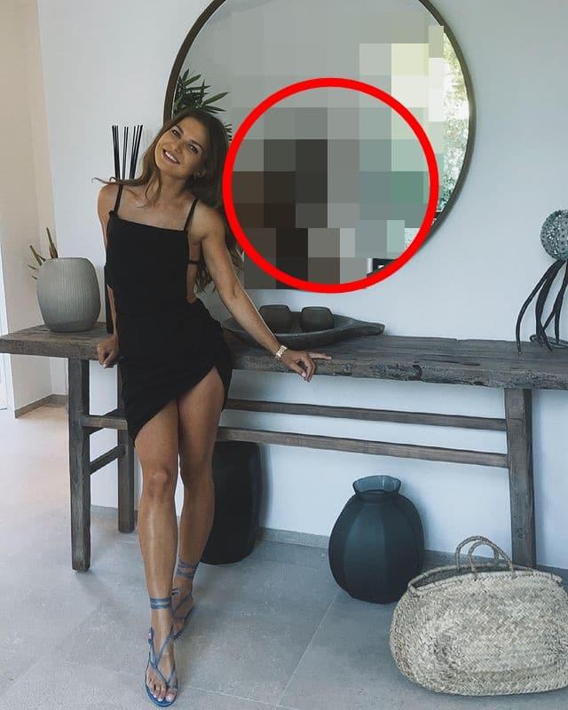 Anna Lewandowska w seksownej sukni. Uwagę zwraca to, co ODBIJA się w lustrze!